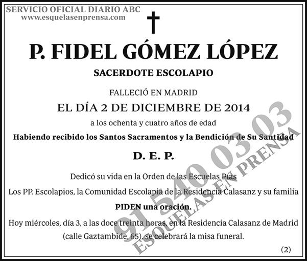 Fidel Gómez López